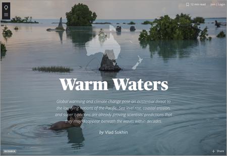 Vlad Sokhin's Warm Waters on Maptia