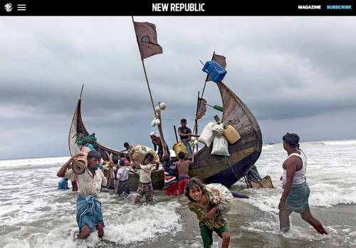 Patrick Brown's work on the Rohingya exodus from Myanmar published in The New Republic