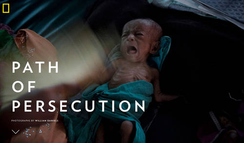 William Daniels' recent work on the Rohingya published by National Geographic