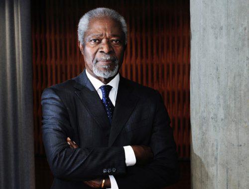 Kofi Annan (1938 – 2018) by Mark Henley