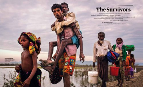 Patrick Brown's award winning work for UNICEF on Rohingya published in Rolling Stone