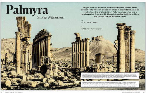Carlos Spottorno's 'Palmyra, the other side' nominated for a European Press Prize