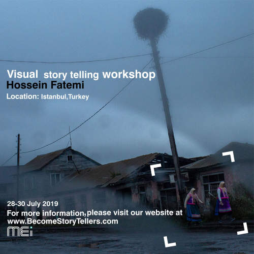Hossein Fatemi leading visual story telling workshop in Istanbul, Turkey