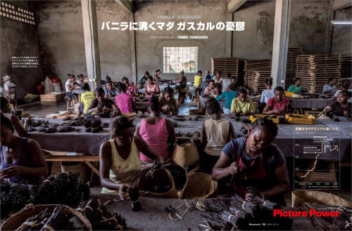 Photo story on vanilla cultivation in Madagascar published in Newsweek Japan