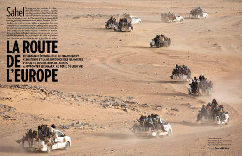 Pascal Maitre's reportage on the Sahel region published in Paris Match