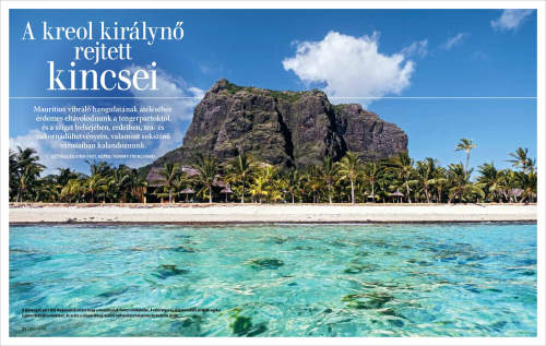 Tommy Trenchard's country profile of Mauritius published in Hungarian GEO Magazine