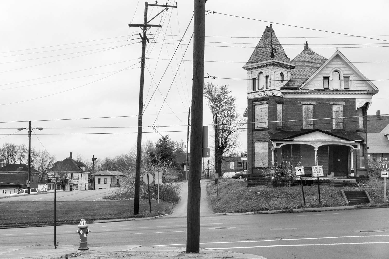 >A derelict house, Ohio.