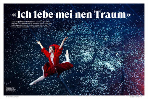 Elena Chernyshova published in Schweizer Illustrierte magazine