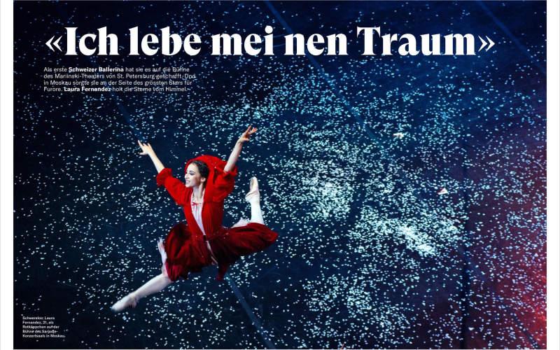 Elena Chernyshova published in Schweizer Illustrierte magazine