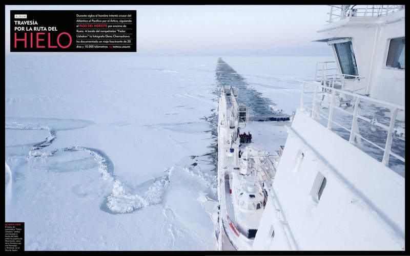 "Elena Chernyshova's ""North East Passage"" published in El Mundo in Spain"