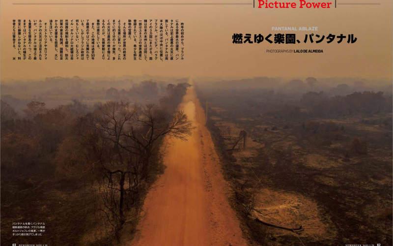 Lalo de Almeida's 'Pantanal Ablaze' published in Newsweek Japan