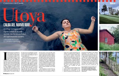Andrea Gjestvang published in L'Espresso magazine in Italy